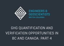 GHG Quantification and Verification Opportunities in BC and Canada: Part 4